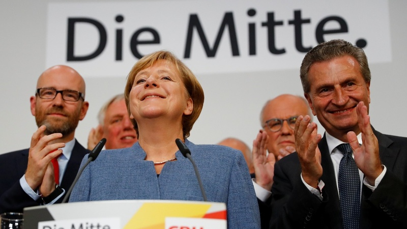 Anglea Merkel wins fourth term - exit polls