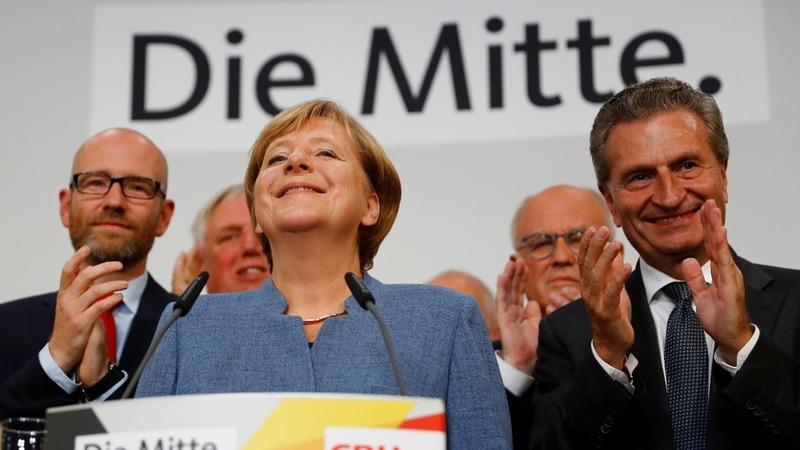 Anglea Merkel wins fourth term - exit polls