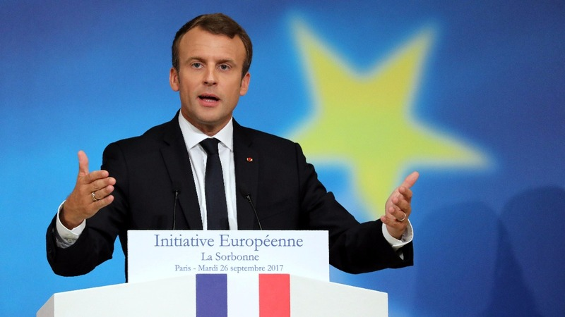 Macron unveils radical reform plan for the EU