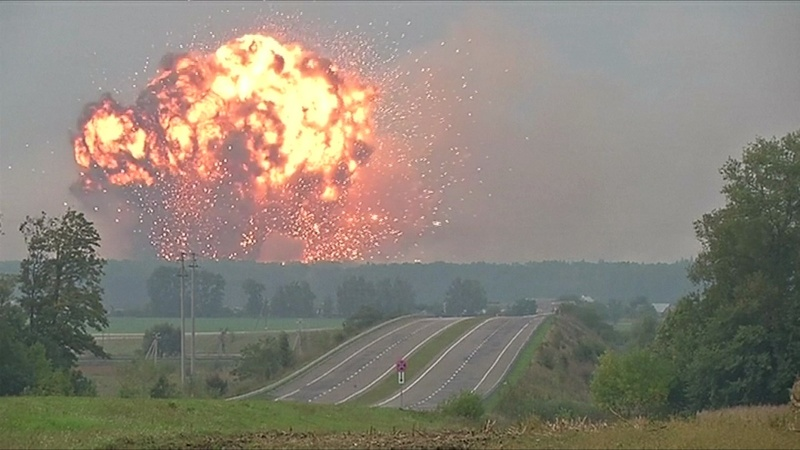 INSIGHT: Ammo depot explodes in Ukraine