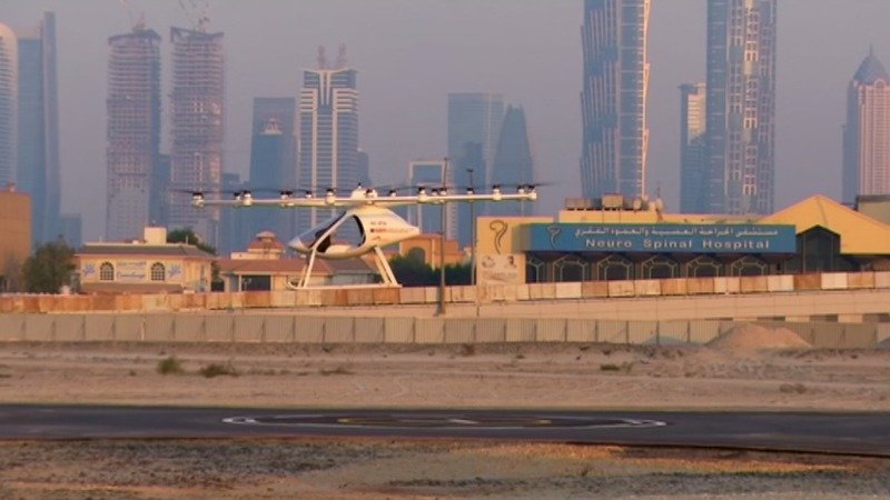 Test liftoff for Dubai drone taxi service