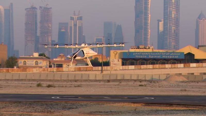 Test liftoff for Dubai drone taxi service