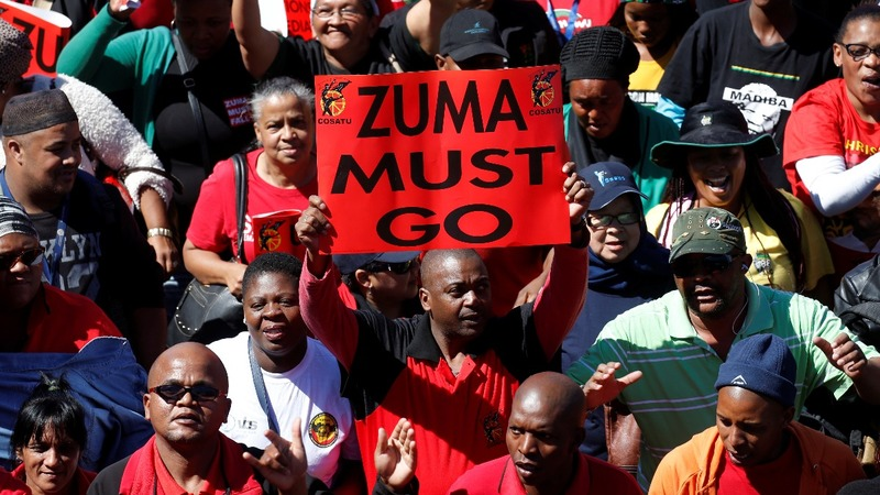 South Africans march against corruption under Zuma