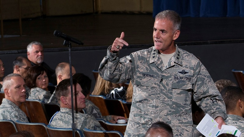 VERBATIM: Air Force head says be respectful or 'get out'