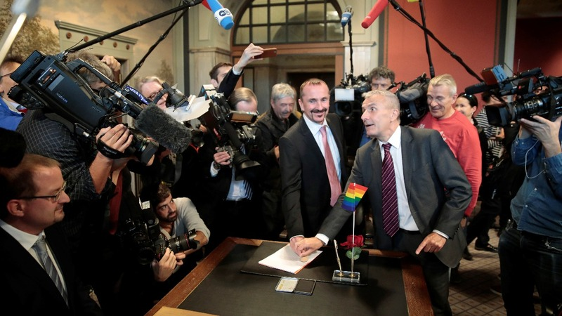 Germany celebrates first same-sex marriages