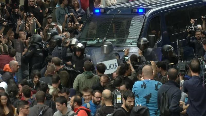 Hundreds injured as police shut down Catalan vote