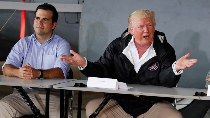 Trump visits Puerto Rico amid tension with leaders