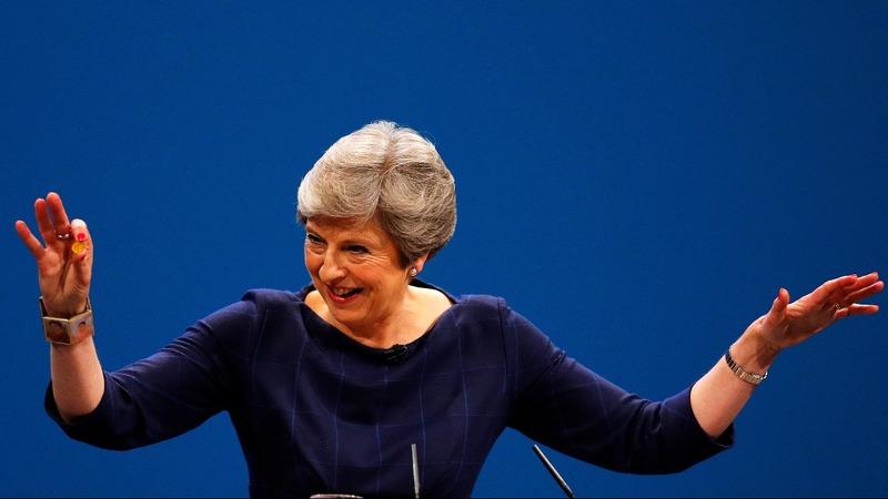 VERBATIM: Mishaps overshadow May's big speech