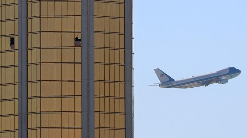 Trump in Vegas dodges questions on gun control