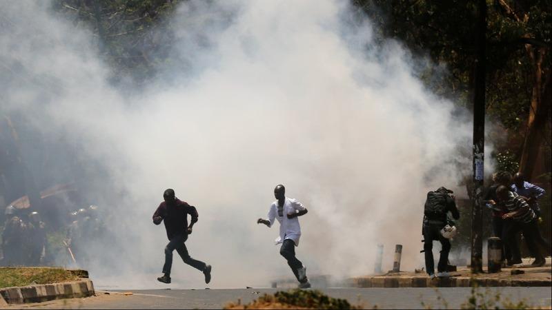 Teargas flies as Kenya election crisis enters third month