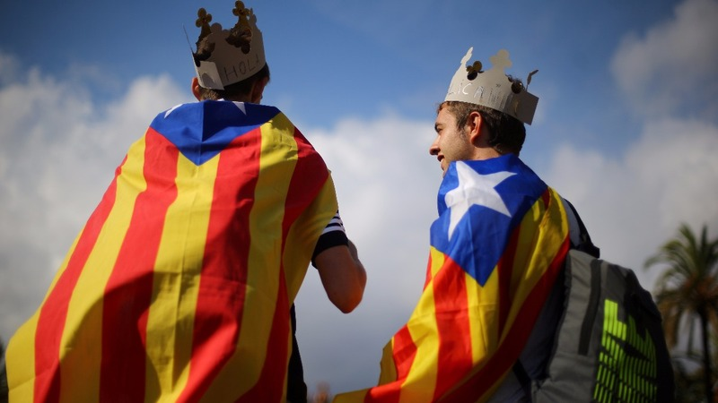 Catalonia stops short of formal independence