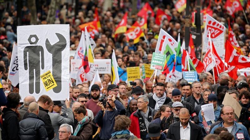 French strikes ground flights, shut down schools