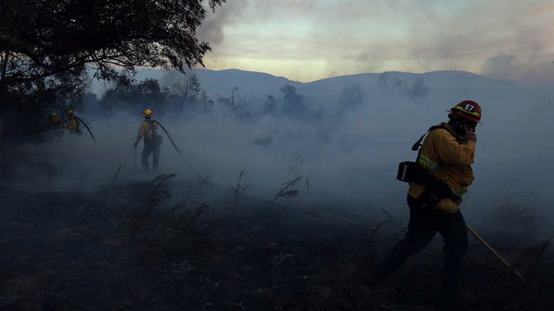 California wine country wildfire faces wind challenges