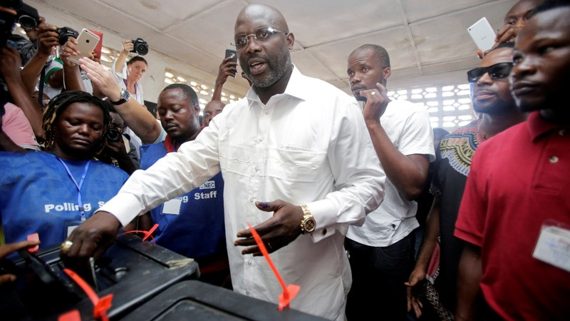 Liberia's ex-soccer star likely winner in election