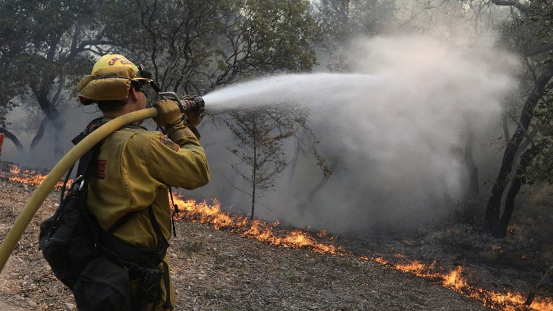Glimmer of hope as crews battle California wildfires