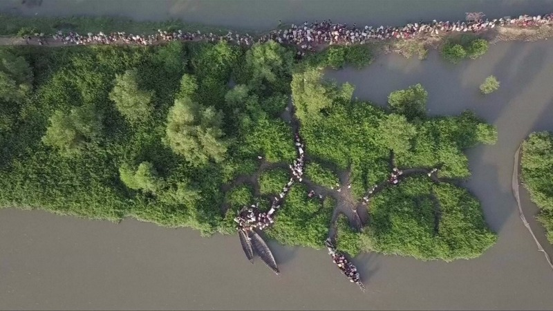 INSIGHT: Drones reveal vast Rohingya migration