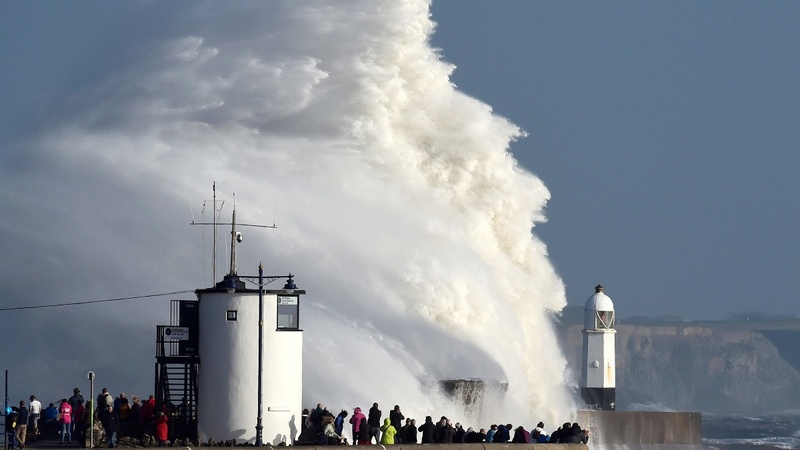 INSIGHT: UK coast vs Storm Ophelia's waves