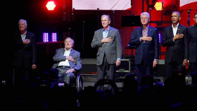 VERBATIM: Ex U.S. presidents at hurricane fundraiser