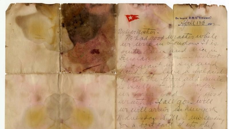 Titanic victim's letter sold for record 126,000 pounds