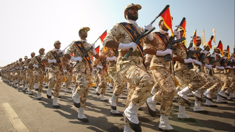 Iran's Guards flex muscle in Middle East despite Trump warning