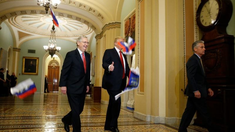 INSIGHT: Protester tosses Russian flags at Trump at Capitol