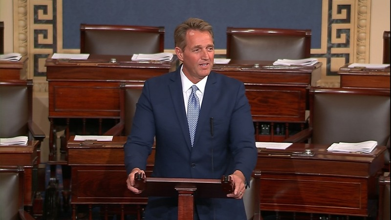 Flake, Corker blast Trump as party feud deepens