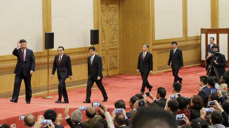 China's Xi signals longer rule with new leader lineup