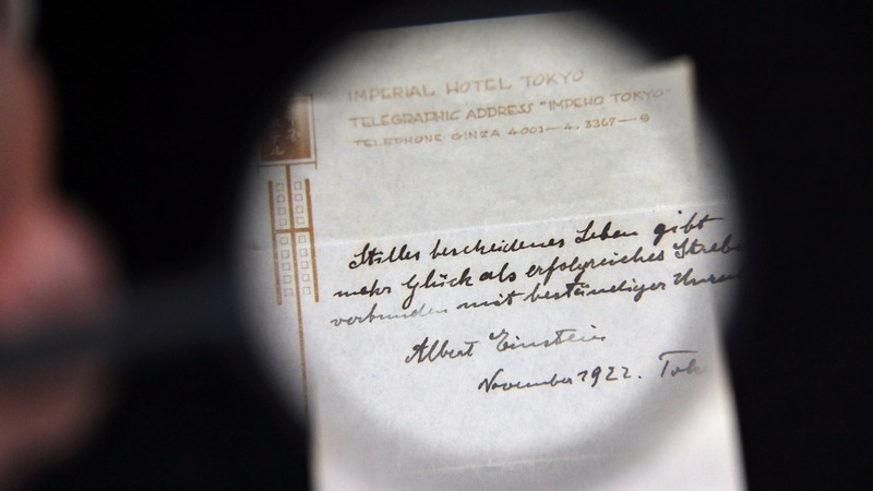 Einstein's theory on life fetches $1.3 million