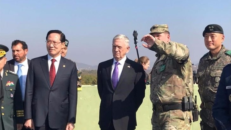 Mattis visits the DMZ ahead of Trump's Asia tour