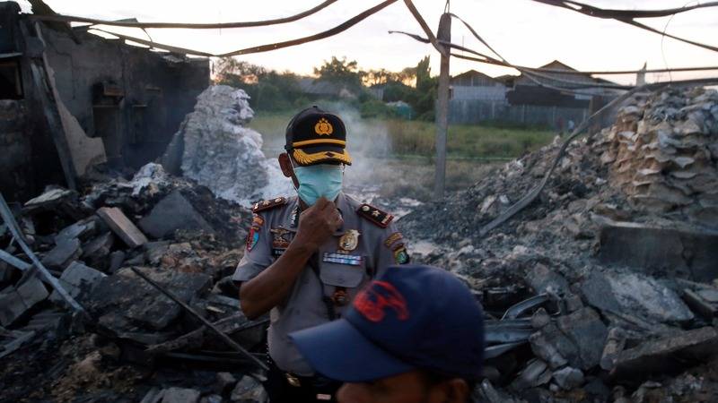 Indonesian police comb site of deadly explosions