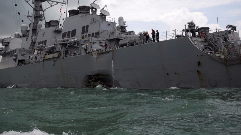 Navy says Asia-Pacific ship collisions were avoidable