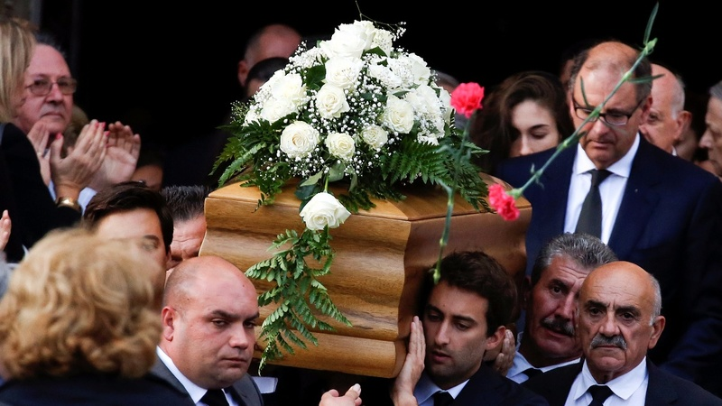 Funeral held for murdered Maltese journalist