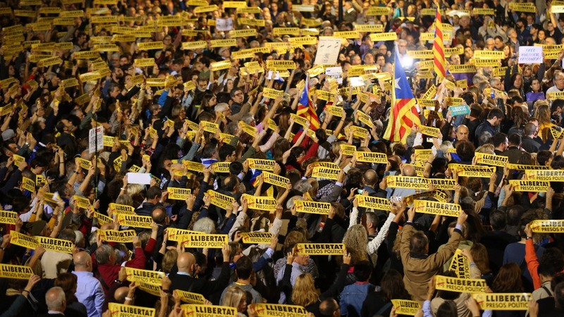 Catalonia: calls for release of 'legitimate government'