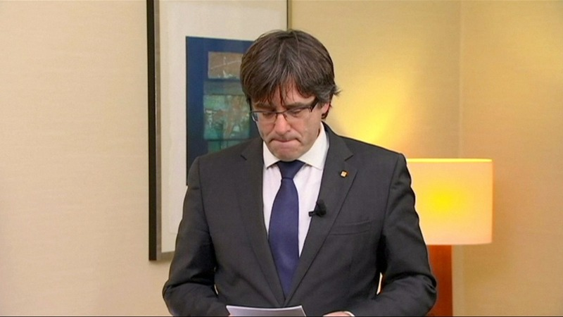 Arrest warrant issued for ousted Catalan leader