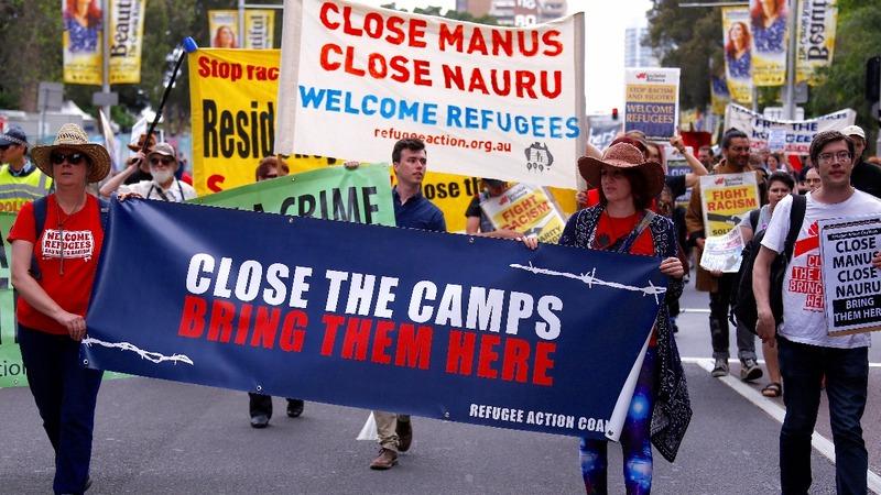 Australians protest migrant detention camp