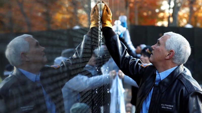 INSIGHT: Pence marks Veterans Day at D.C. Memorial