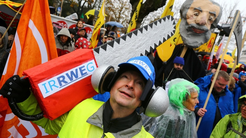 INSIGHT: Colorful protests at COP23 climate talks