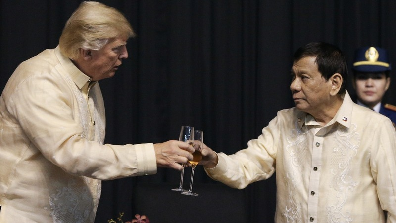 Trump, Duterte strike soft tone amid Asia's tensions