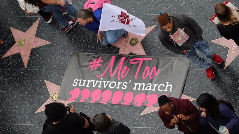 INSIGHT: Hundreds join Hollywood #MeToo march