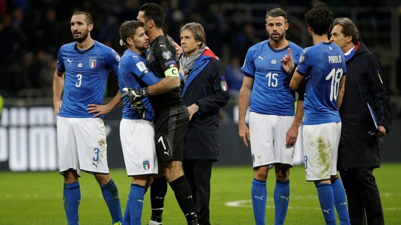 A tearful end to Italy's World Cup ambitions
