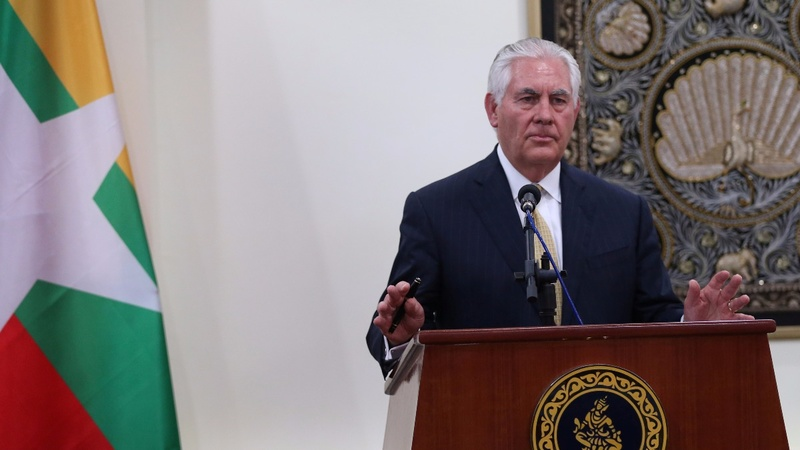 Tillerson won't push for U.S. sanctions on Myanmar