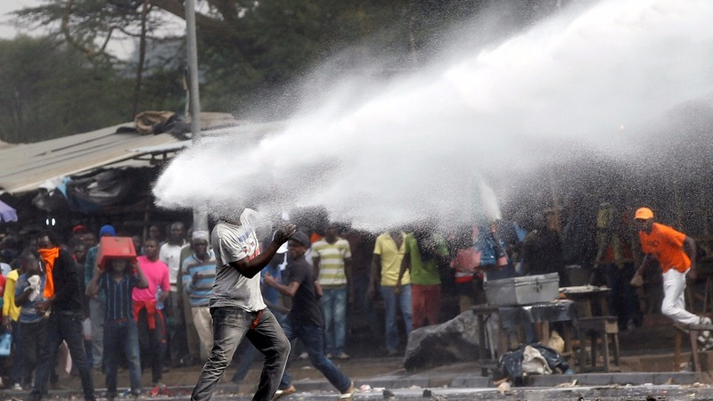 Kenya opposition leader gets violent homecoming