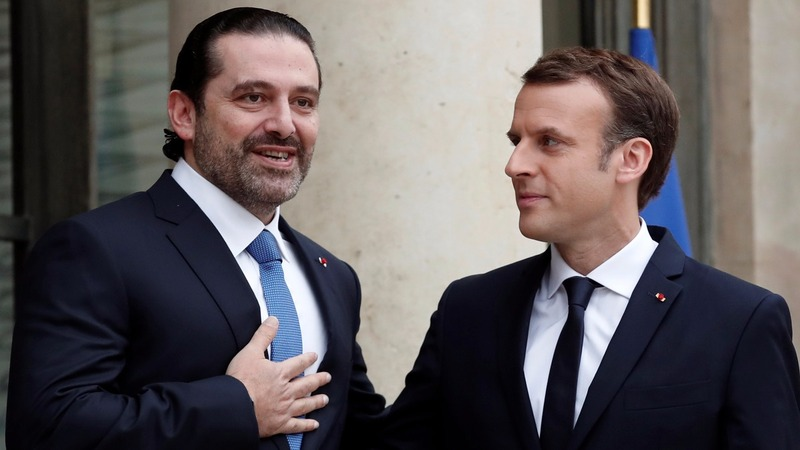 Lebanon's Hariri in Paris as Macron plays mediator