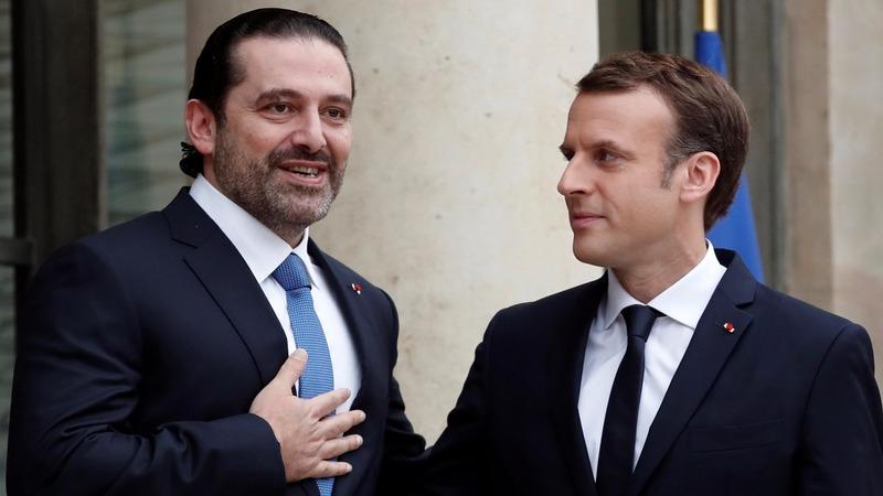 Lebanon's Hariri in Paris as Macron plays mediator