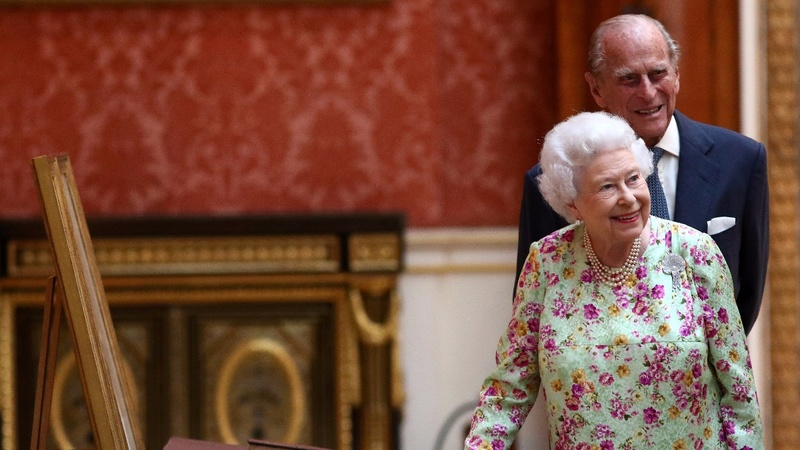 Britain's Queen Elizabeth celebrates 70 years of marriage