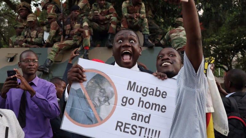 Jubilation in Zimbabwe as Mugabe steps down