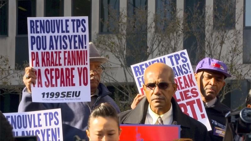 Haitians decry Trump's decision to end temporary U.S. visas