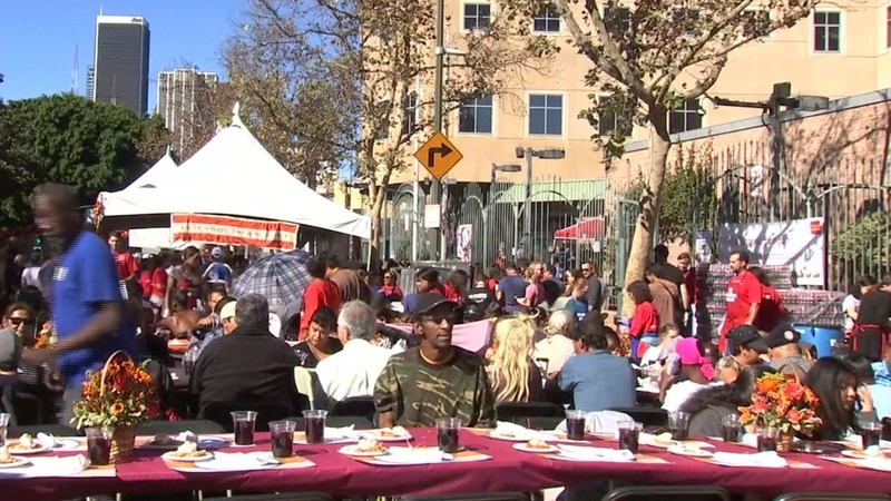 INSIGHT: Thanksgiving feast on L.A.'s Skid Row