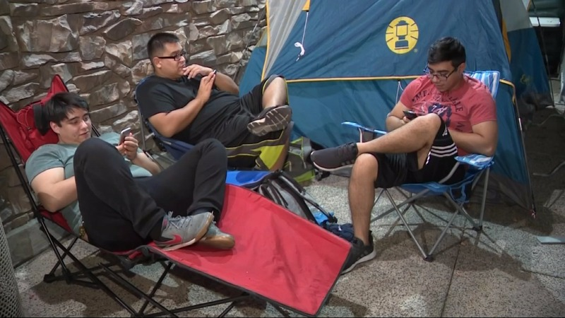 Eager shoppers camp out, prepare for holiday sales