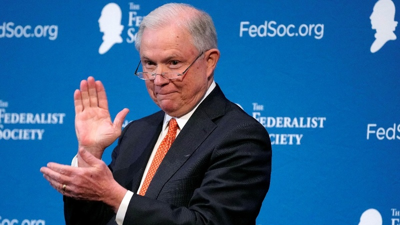 Sessions orders review of database for background checks